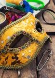 Carnaval, het masker van het nieuwe jaar Stock Foto