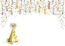 Carnaval-hoed en partijdecoratie Royalty-vrije Stock Foto