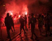 Carnaval i Patras Arkivbilder