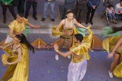 Carnaval 2014 in Ibiza, Spanje royalty-vrije stock afbeeldingen