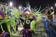 Carnaval 2018 - Inocentes de Belford Roxo fotografia de stock