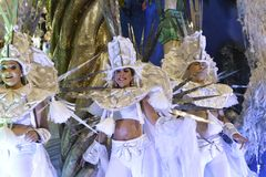 Carnaval 2018 - Inocentes de Belford Roxo imagem de stock royalty free