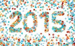 Carnaval 2015 kleurrijke geïsoleerde confettien Stock Foto