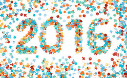 Carnaval 2016 kleurrijke geïsoleerde confettien Royalty-vrije Stock Afbeeldingen