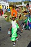 Carnaval-kostuums in Trinidad en Tobago Stock Foto