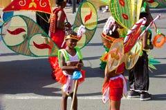 Carnaval-kostuums in Trinidad en Tobago Stock Afbeeldingen