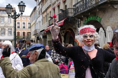 Carnaval in Limoux stock foto's