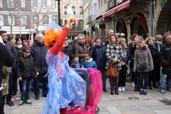 Carnaval in Limoux royalty-vrije stock foto's