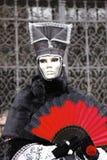 Carnaval - máscara de prata foto de stock