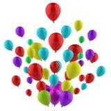 Carnaval malo flotante Joy Or de los globos coloridos Fotos de archivo