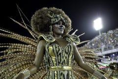 Carnaval 2018 - Mangueira Stock Afbeeldingen