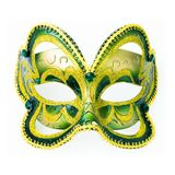 Carnaval-Maske lokalisiert auf Weiß Lizenzfreies Stockbild