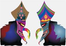 Carnaval-masker met ontwerpen wordt verfraaid dat Royalty-vrije Stock Afbeelding