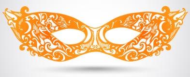 Carnaval-maskerillustratie. Vectorontwerpelement voor uitnodiging Royalty-vrije Stock Foto's