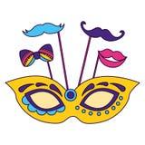 Carnaval-maskermond stock illustratie