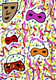 Carnaval-maskers Royalty-vrije Stock Foto