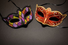 Carnaval-maskers stock foto's