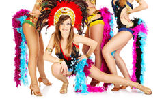 Carnaval-meisjes! royalty-vrije stock foto