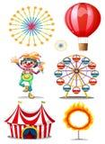 Carnaval met clown royalty-vrije illustratie