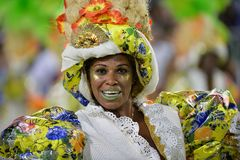 Carnaval 2018 - Mocidade Independente DE Padre Miguel Stock Foto's
