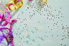 Carnaval o frontera brillantemente coloreado de Mardi Gras Fotografía de archivo