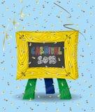 Carnaval 2018 op Bord en Confettien royalty-vrije illustratie