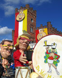 2014, Carnaval-Parade Aalst Stock Foto's
