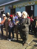 Carnaval-parade in Bocono, Venezuela stock foto's