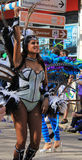 Carnaval Parade. A dancer performing at a parade during a carnaval in Loule, Portugal 26 Feb 2017 No model release Editorial use only Royalty Free Stock Photo