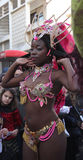 Carnaval Parade. A dancer performing at a parade during a carnaval in Loule, Portugal 26 Feb 2017 No model release Editorial use only Stock Photo