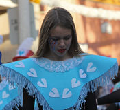 Carnaval Parade. A dancer performing at a parade during a carnaval in Loule, Portugal 26 Feb 2017 No model release Editorial use only Stock Photos