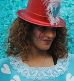 Carnaval Parade. A dancer performing at a parade during a carnaval in Loule, Portugal 26 Feb 2017 No model release Editorial use only Royalty Free Stock Images