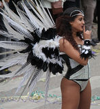 Carnaval Parade. A dancer performing at a parade during a carnaval in Loule, Portugal 28 Feb 2017 No model release Editorial use only Royalty Free Stock Image