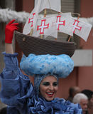 Carnaval Parade. A dancer performing at a parade during a carnaval in Loule, Portugal 28 Feb 2017 No model release Editorial use only Stock Photography