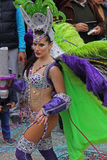 Carnaval Parade. A dancer performing at a parade during a carnaval in Loule, Portugal 28 Feb 2017 No model release Editorial use only Royalty Free Stock Photos