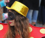 Carnaval Parade. A dancer performing at a parade during a carnaval in Loule, Portugal 28 Feb 2017 No model release Editorial use only Royalty Free Stock Photo