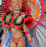 Carnaval Parade. A dancer performing at a parade during a carnaval in Loule, Portugal 28 Feb 2017 No model release Editorial use only Stock Image