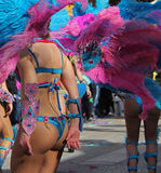 Carnaval Parade. Dancers performing at a parade during a carnaval in Loule, Portugal 26 Feb 2017 No model release Editorial use only Royalty Free Stock Photography