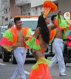 Carnaval Parade. Dancers performing at a parade during a carnaval in Veracruz, Mexico 03 Feb 2016 No model release Editorial use only Stock Image