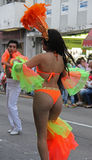 Carnaval Parade. Dancers performing at a parade during a carnaval in Veracruz, Mexico 03 Feb 2016 No model release Editorial use only Stock Photography