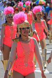 Carnaval Parade. Dancers performing at a parade during a carnaval in Veracruz, Mexico 07 Feb 2016 No model release Editorial use only Stock Image
