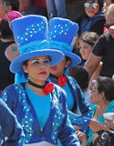Carnaval Parade. Dancers performing at a parade during a carnaval in Veracruz, Mexico 07 Feb 2016 No model release Editorial use only Royalty Free Stock Image