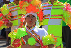Carnaval Parade. Dancers performing at a parade during a carnaval in Veracruz, Mexico 07 Feb 2016 No model release Editorial use only Royalty Free Stock Photo