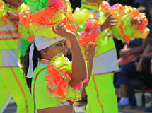 Carnaval Parade. Dancers performing at a parade during a carnaval in Veracruz, Mexico 07 Feb 2016 No model release Editorial use only Stock Images