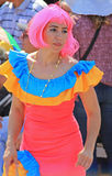 Carnaval Parade. Dancers performing at a parade during a carnaval in Veracruz, Mexico 07 Feb 2016 No model release Editorial use only Stock Photos