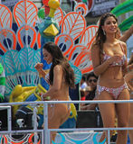 Carnaval Parade. Dancers performing at a parade during a carnaval in Veracruz, Mexico 07 Feb 2016 No model release Editorial use only Royalty Free Stock Photos