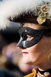 Carnaval-parade met dame bij de Carnaval-parade in Piazza San M Stock Foto's