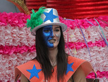Carnaval Parade. A performer at a parade during a carnaval in Loule, Portugal 28 Feb 2017 No model release Editorial use only Stock Images