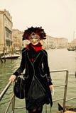 Carnaval Paricipant de Venise Photos libres de droits
