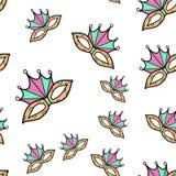 Carnaval-partij naadloos patroon royalty-vrije illustratie